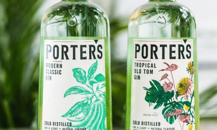 Stranger & Stranger diseñan nuevas botellas de Porter's Gin