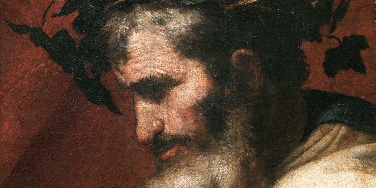 """""""Cabeza del dios Baco, fragmento de El Triunfo de Baco"""" (1636), de José de Ribera"""