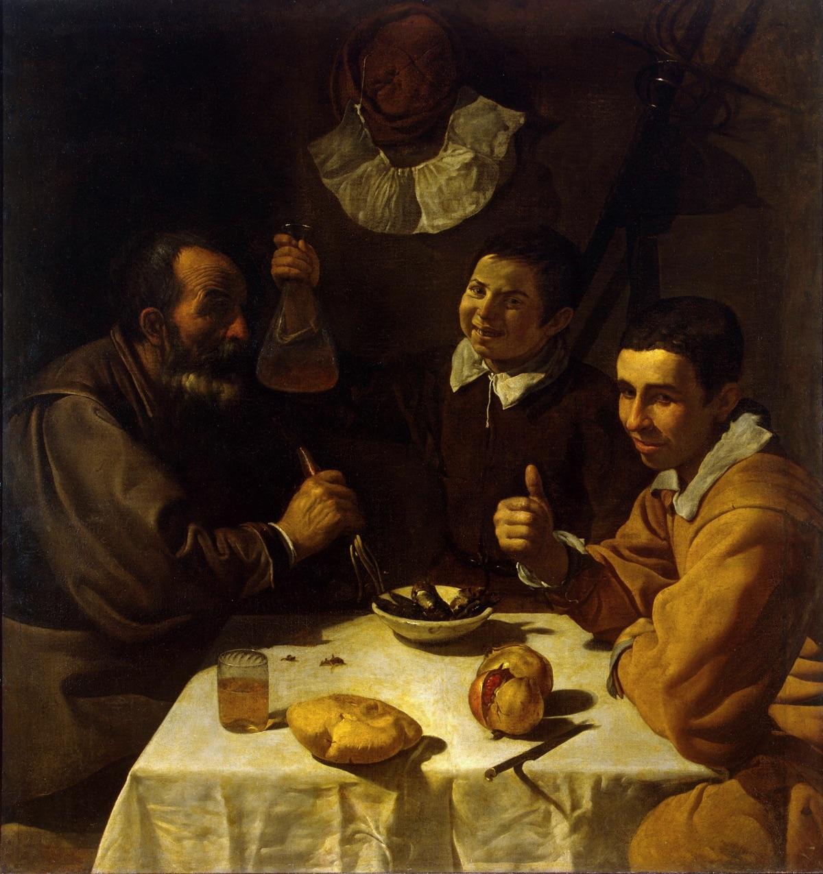 El almuerzo (1617-1618), de Diego Velázquez