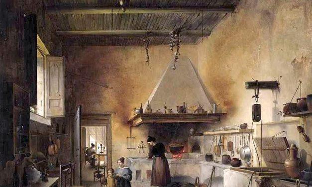 """""""Caos en la cocina"""" (1830), de Vincenzo Abbati"""