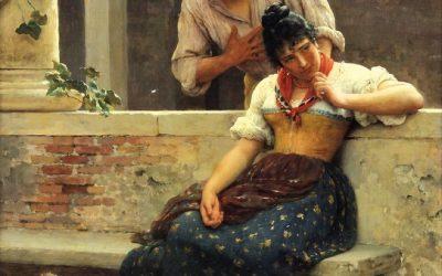 """""""La propuesta"""" (1870), de Eugene de Blaas"""