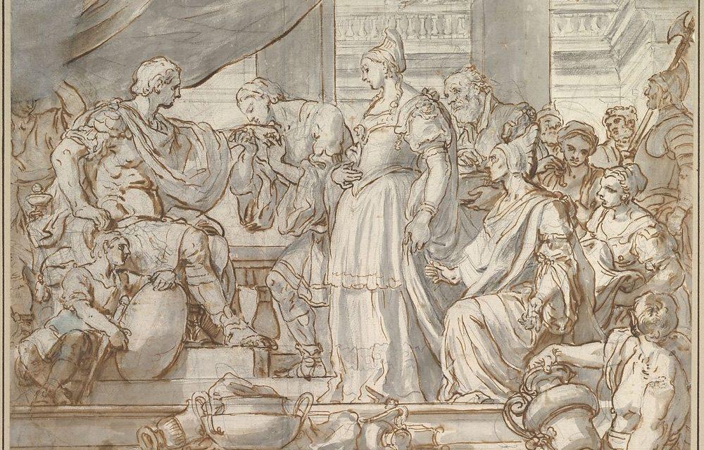"""The Continence of Scipio"" (1692), de Francesco Solimena"