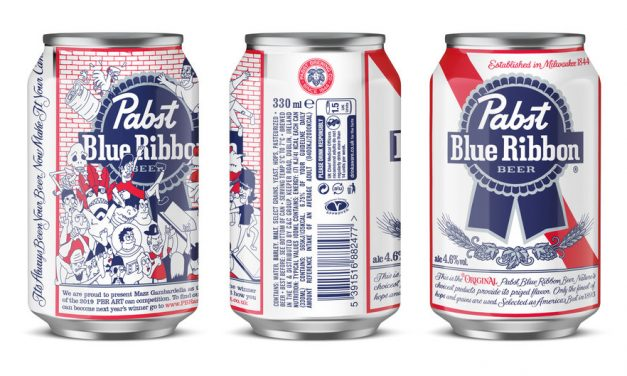 Pabst Blue Ribbon lanza latas de edición limitada por Mazz Gambardella