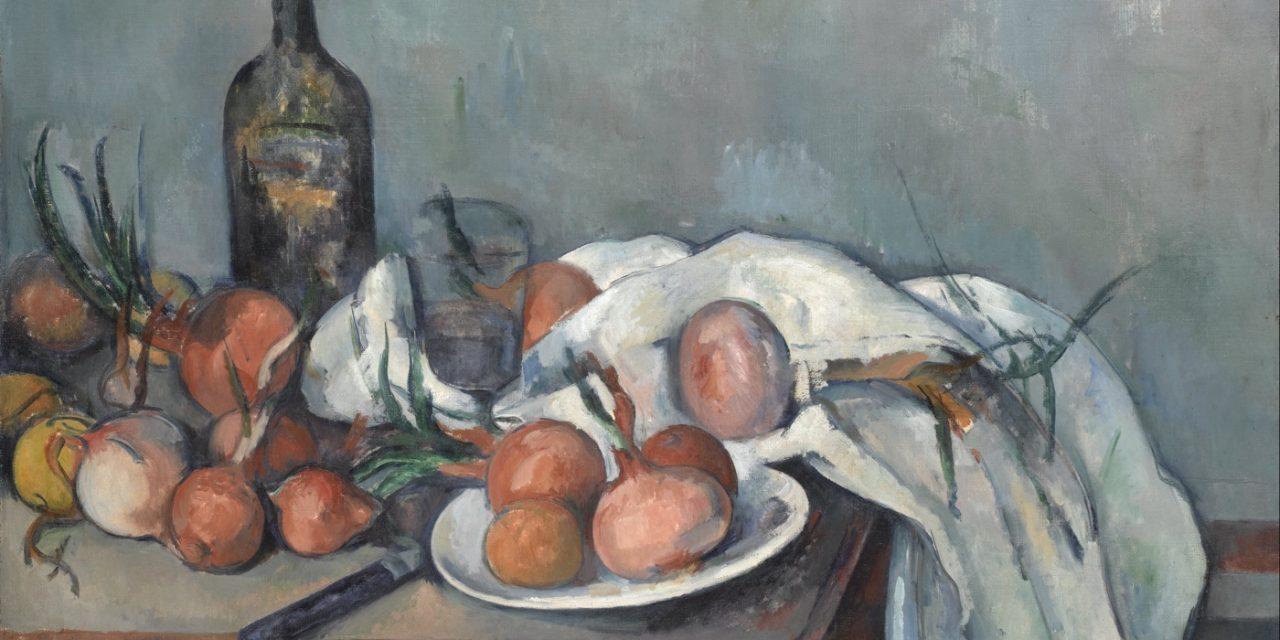 """Bodegón con cebollas"" (1895-1898), de Paul Cézanne"