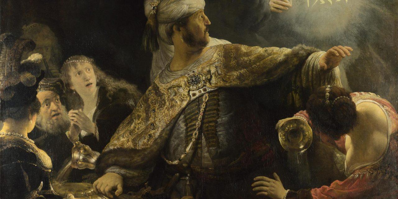 """""""El festín de Baltasar"""" (1635), de Rembrandt"""