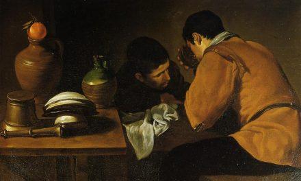 """""""Dos jóvenes a la mesa"""" (1622), de Diego Velázquez"""