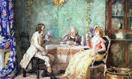 """""""La hora del té"""" (1877), de Attilio Simonetti"""