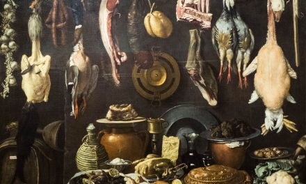 """""""Despensa con barril, caza, carne y cerámica"""" (1624), de Jacopo da Empoli"""