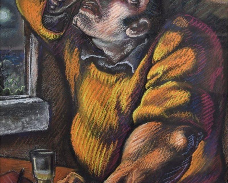 """Bebiendo"" (1986), de Peter Howson"