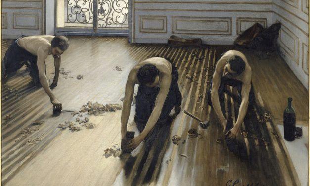 """""""Rascadores de piso"""" (1875), de Gustave Caillebotte"""