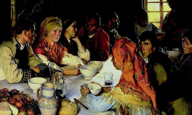 """""""Comida de boda en Bergantiños"""" (1912), de Fernando Álvarez de Sotomayor"""