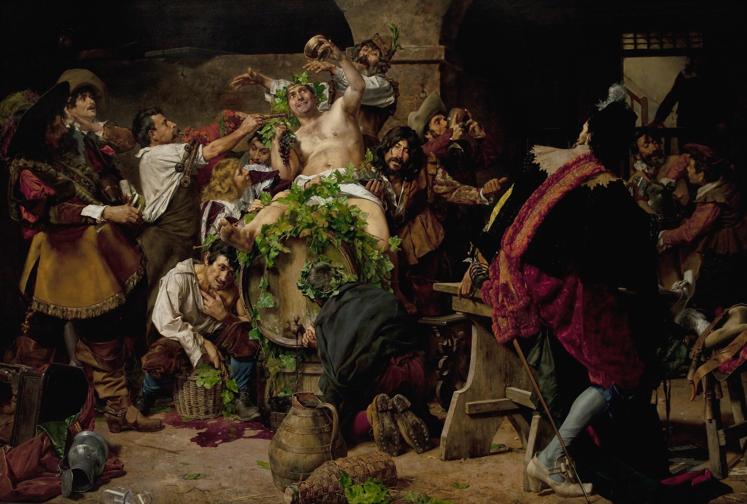 Los borrachos. Bacanal (1889), de Antonio Fabrés
