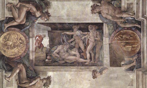 """""""La Embriaguez de Noé"""" (1509), de Miguel Ángel"""