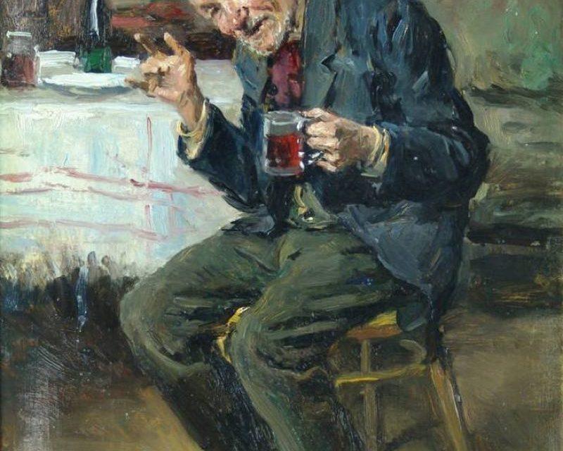 """El borracho"" (1900), de Vladímir Makovski"