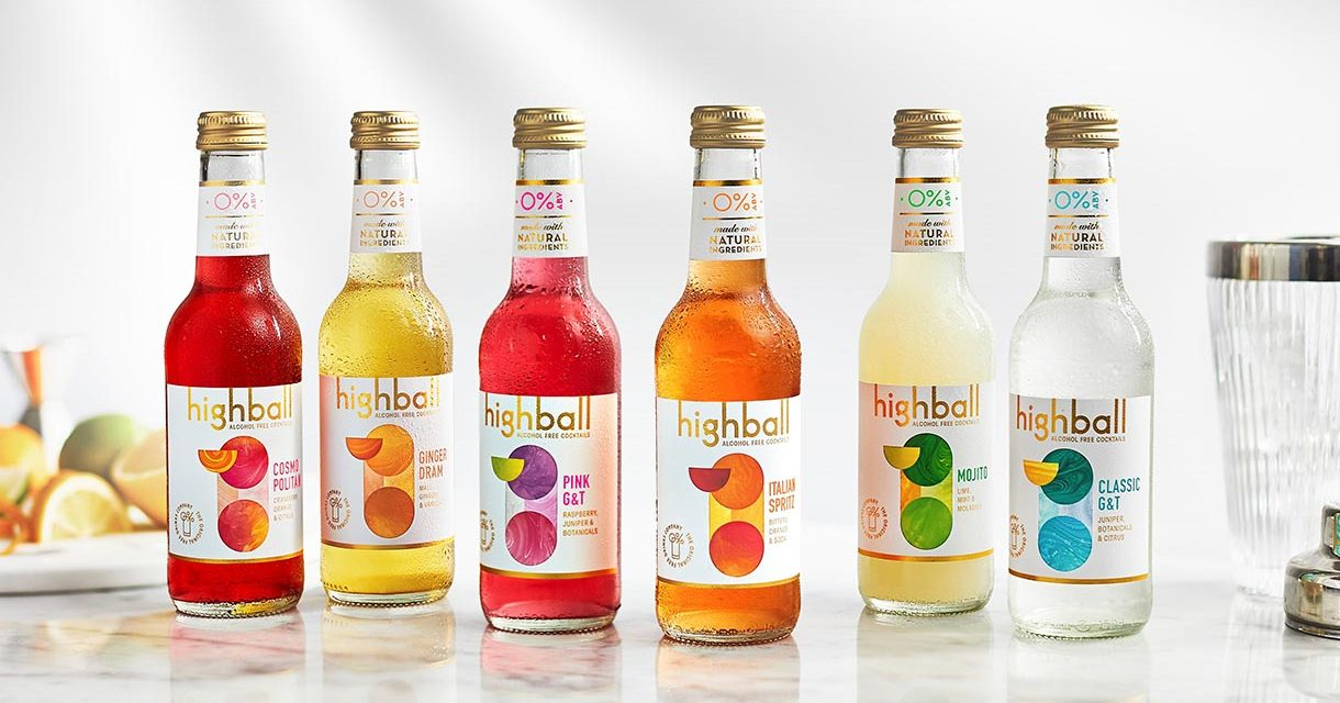 Highball Cocktails lanza sus primeros cócteles RTD sin alcohol