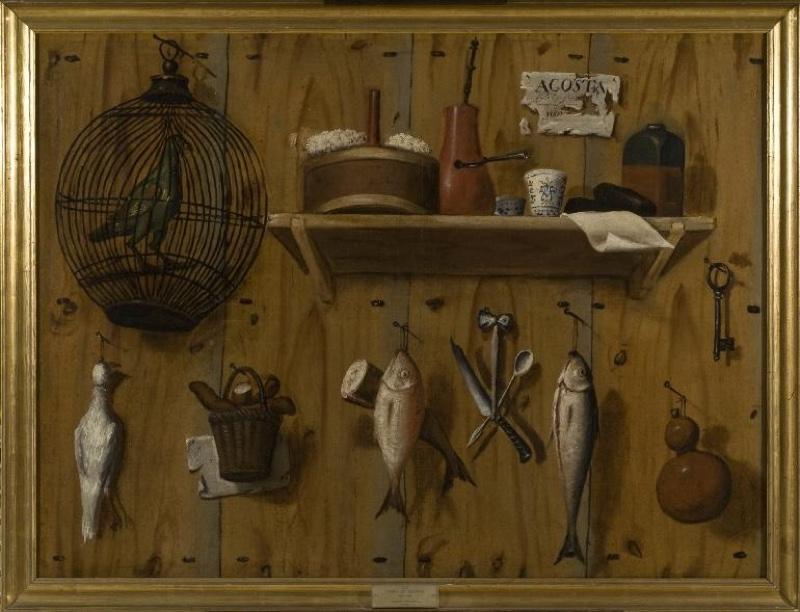 """""""Trompe l'oeil de animales y objetos"""" (1751), de Pedro de Acosta"""