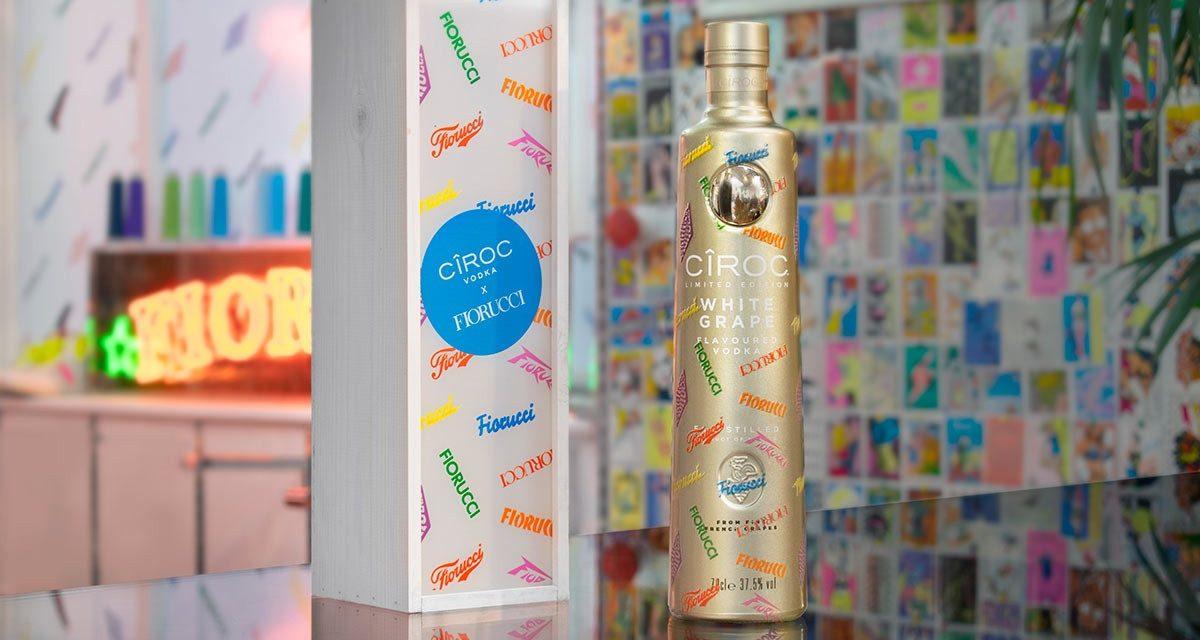 Cîroc crea diseño de las botellas White Grape con Fiorucci en edición limitada