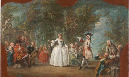 """""""Fiesta en un jardín"""" (mediados del siglo XVIII), de Charles Joseph Flipart"""