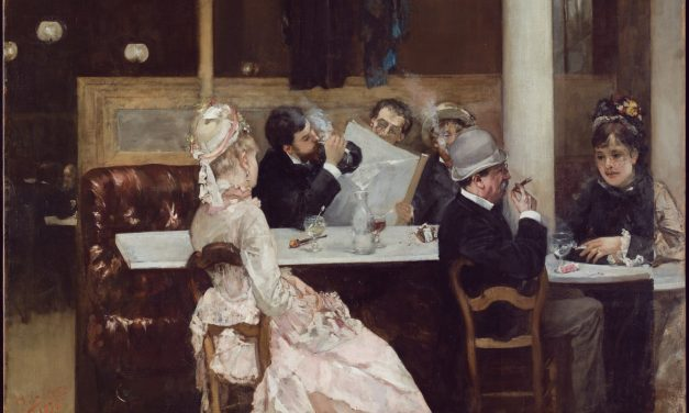 """Escena de café en París"" (1887), de Henri Gervex"