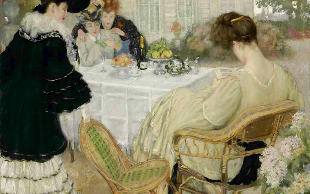 """""""Damas tomando el té"""" (alrededor de 1902), de Henry Caro-Delvaille"""