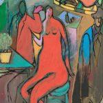"""""""Escena de café"""" (1982), de Luis Delacámara"""