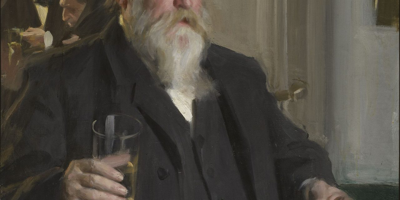 """""""Hombre bebiendo"""" (1892), de Anders Zorn"""