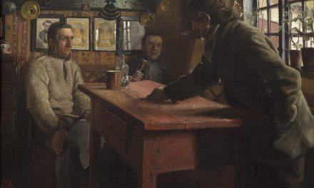 """""""Discusión política"""" (1885), de Laurits Andersen Ring"""