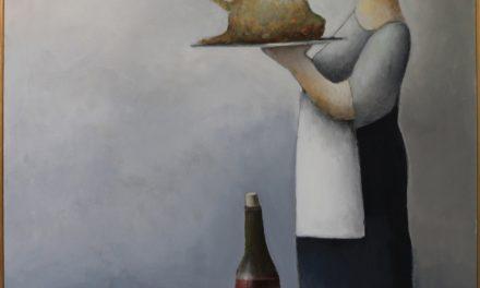 """""""Cena con vino"""" (2002), de Albert Bertelsen"""