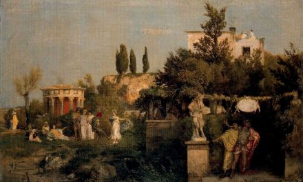 """Taberna en la Antigua Roma"" (1867), de Arnold Böcklin"