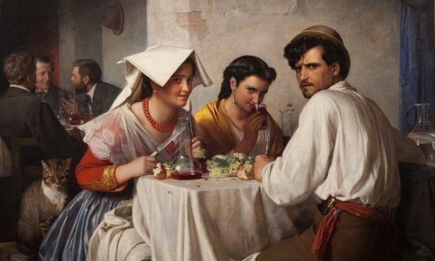 """""""En una hostería romana"""" (1866), de Carl Bloch"""