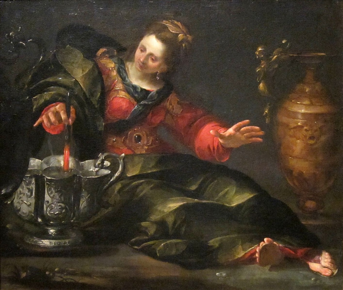 'Circe_Mulling_Wine'_by_Gioacchino_Assereto,_Dayton_Art_Institute