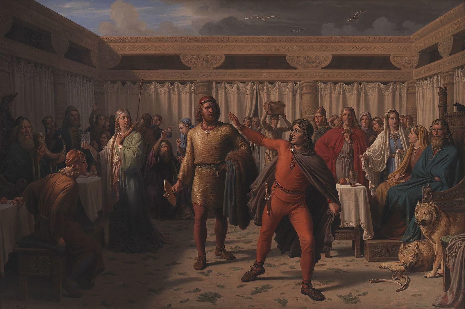 Constantin_Hansen,_Ægirs_gæstebud,_1857,_KMS939,_SMK