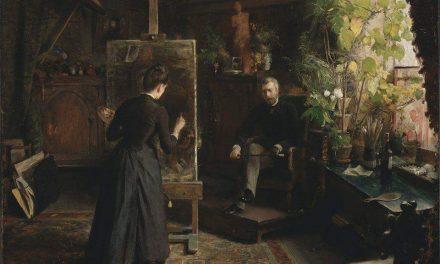 """""""Pintando un retrato"""" (1870), de Bertha Wegmann"""