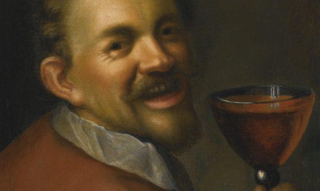 """""""Retrato con copa de vino"""" (1596), de Hans von Aachen"""
