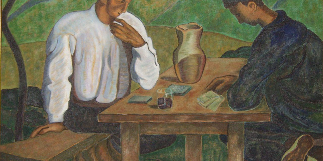 """""""Vascos jugando a las cartas"""" (1919), de Ramiro Arrue"""