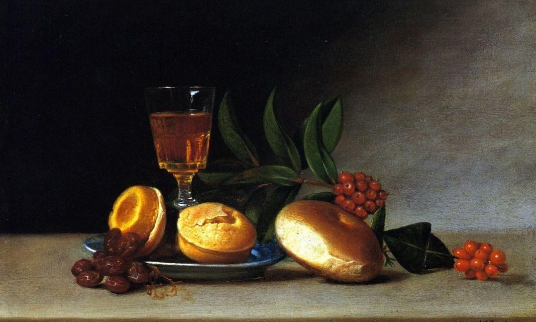 """Bodegón con copa de vino"" (1818), de Raphaelle Peale"