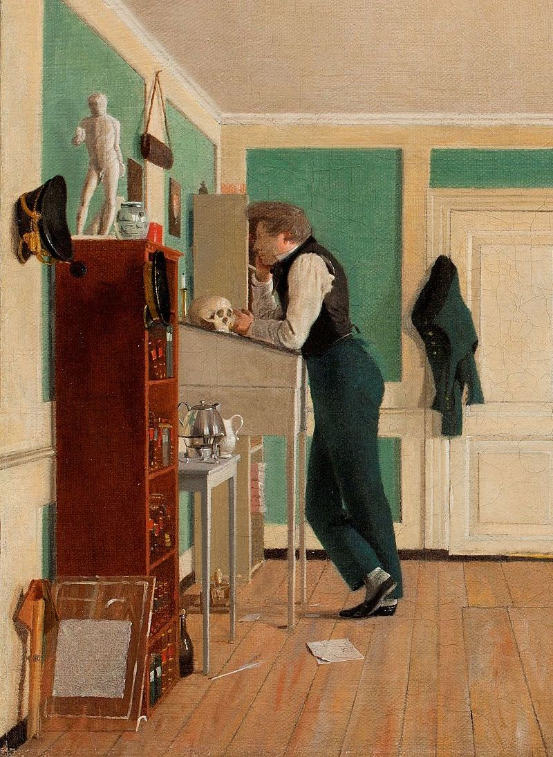 Wilhelm_Bendz,_Interiør_fra_Amaliegade,_ca._1829 2