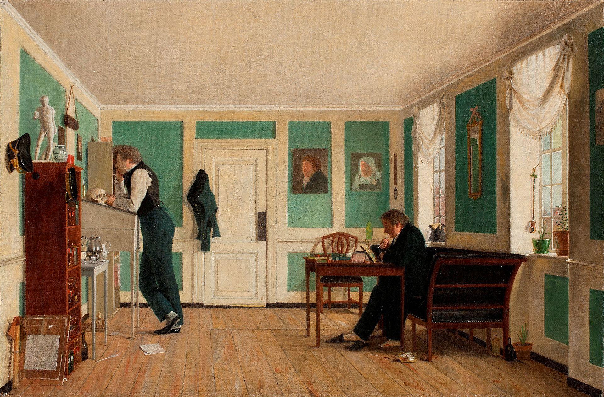 Wilhelm_Bendz,_Interiør_fra_Amaliegade,_ca._1829.jpg