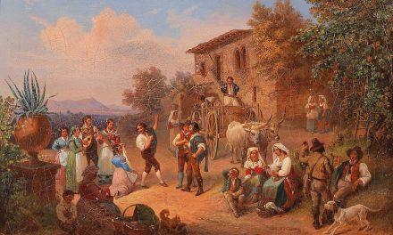 """""""Escena de la vida popular italiana"""" (1845), de Ludwig Vogel"""