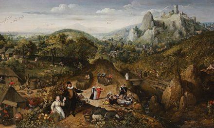 """""""El otoño con la vendimia"""" (1585), de Lucas van Valkenborch"""