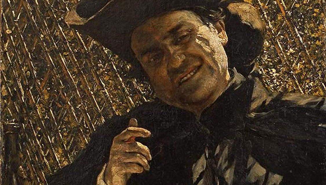 """""""Bebedor de vino"""" (1881), de Aleksander Gierymski"""