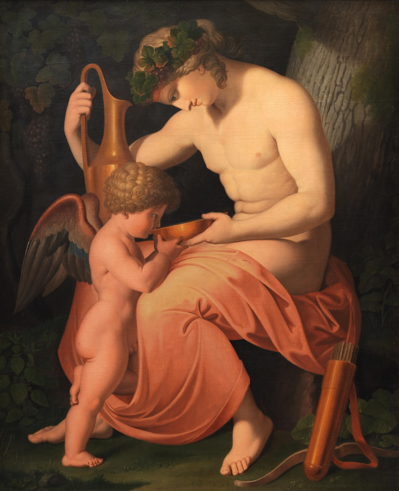 Asmus_Jacob_Carstens_-_Bacchus_and_Cupid_-_KMS243_-_Statens_Museum_for_Kunst