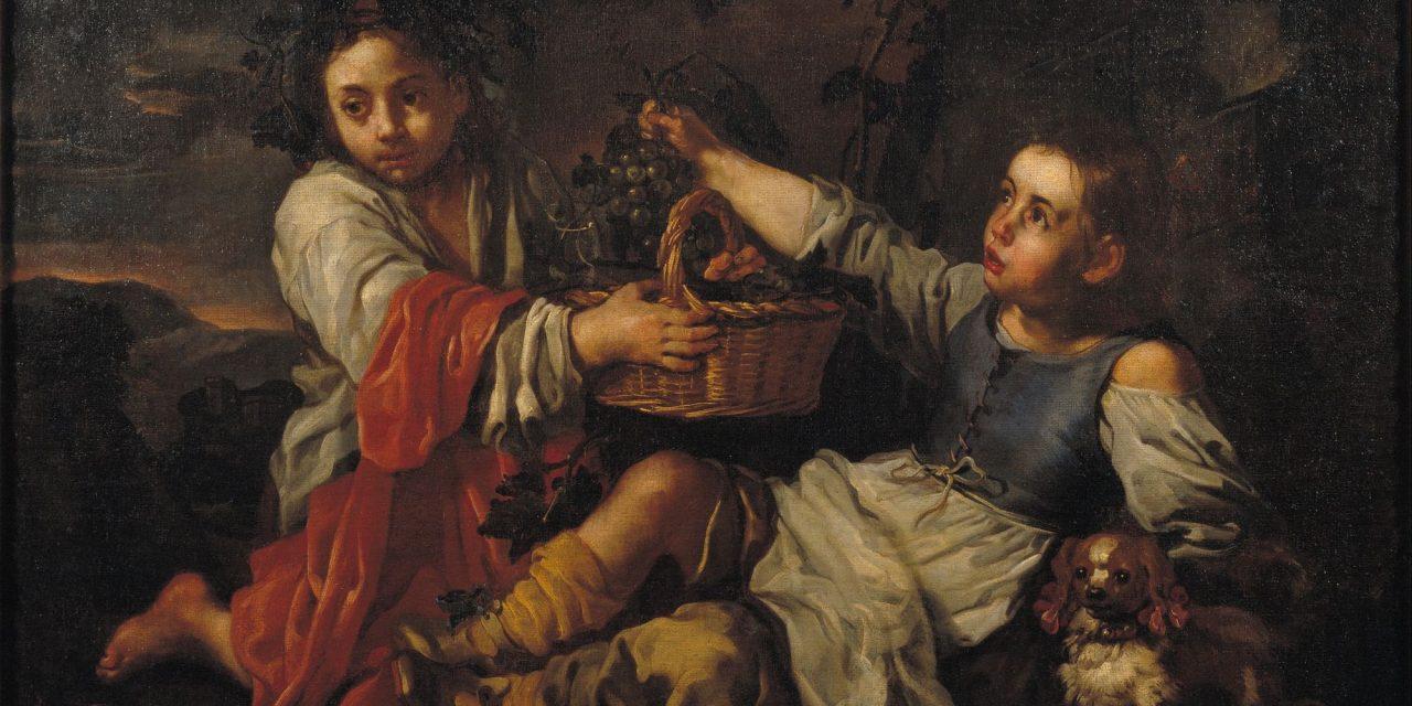 """Niños con racimos de uvas"" (segunda mitad de siglo XVII), de Eberhard Keil"
