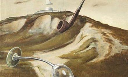 """""""Paisaje surrealista con un vaso, una pipa y una vela"""" (1939), de Wilhelm Freddie"""