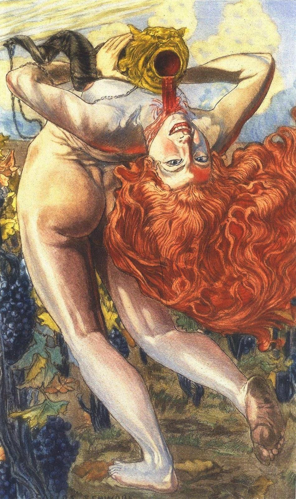 """El Alma del Vino"""" (1900), de Carlos Schwabe"""