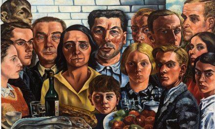 """""""Comida con amigos"""" (1921), de Charley Toorop"""