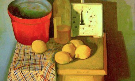 """""""Naturaleza muerta con vino y reloj"""" (1923), de Felix Nussbaum"""