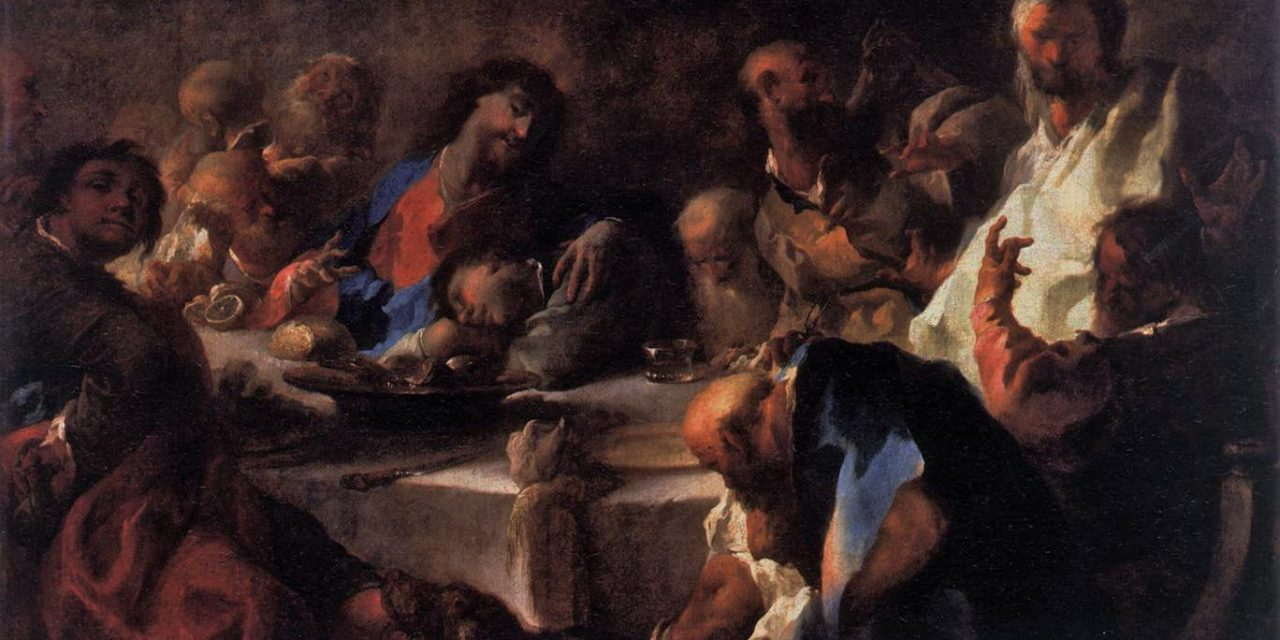 """La última cena"" (1754), de Franz Anton Maulbertsch"