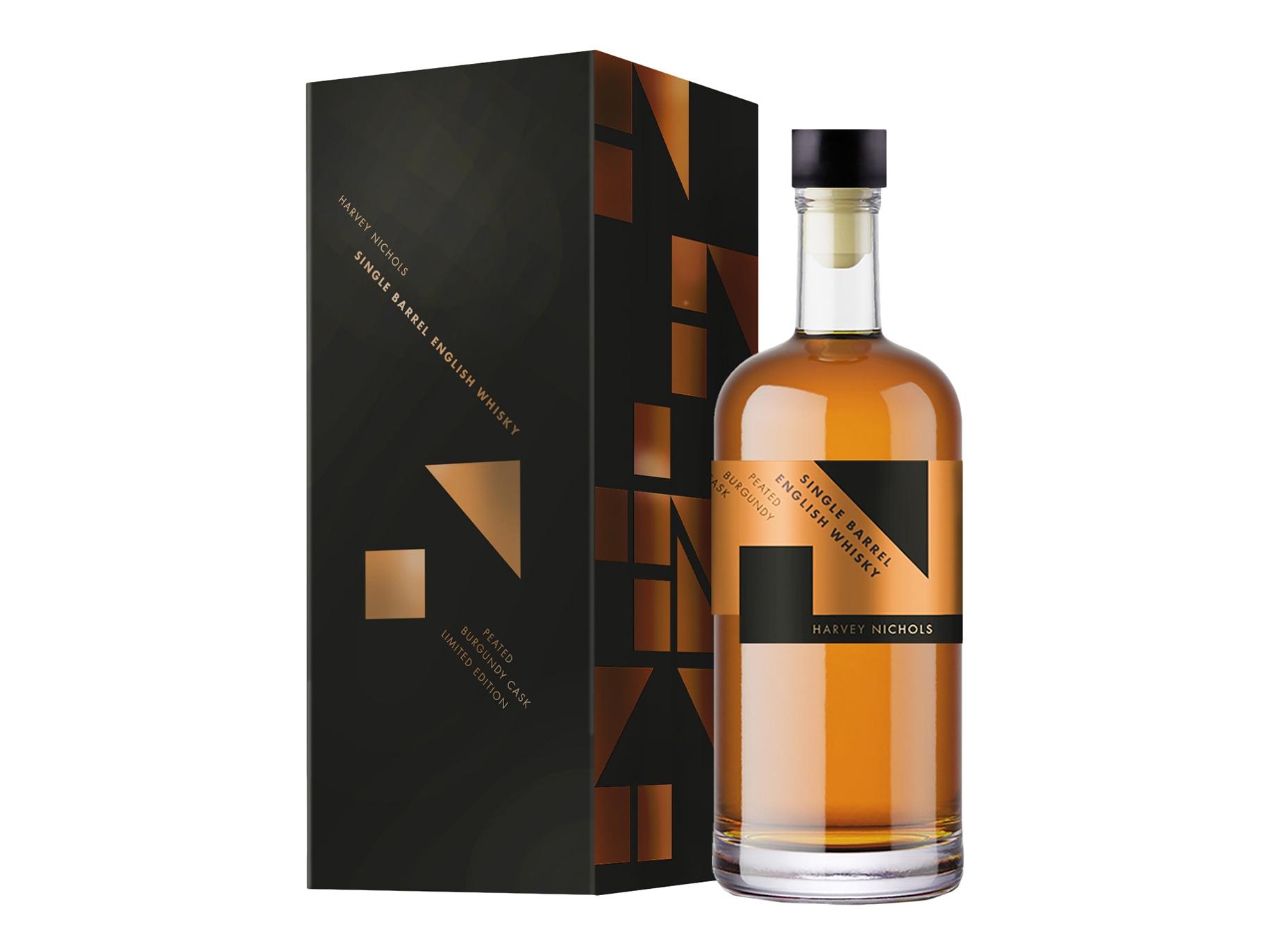 Harvey Nichols Peated Burgundy Cask Single Barrel English Whisky