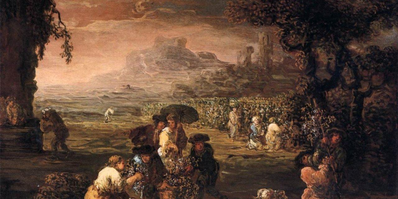 """""""Cosecha de uva"""" (1660), de Jan de Momper"""